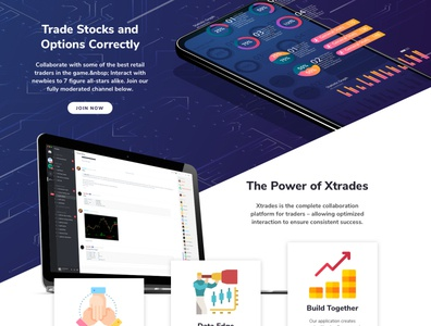 Xtrades Landing Page landing page design website