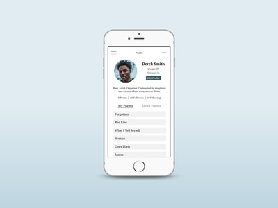 Day 006 Daily UI Challenge: Profile