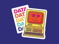 Data Love Stickers