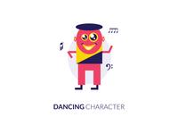 Dancing Flat Character
