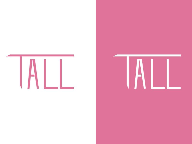 Tall Typography tall ux clean icon lettering brand character cartoon illustrator typography flat logo vector minimal illustration design branding