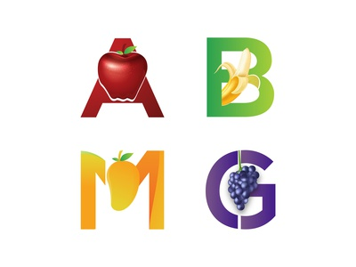 Fruit Letter Typography