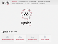 UPSIDE concept one page site