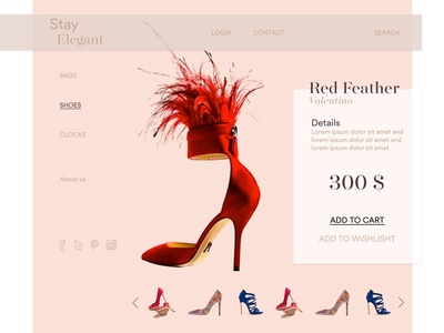 Product Page - Luxury e-commerce