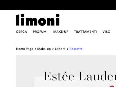 Limoni e-commerce contest - product page