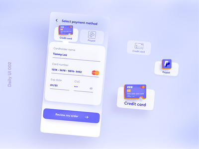 Daily UI 002 - Credit Card Checkout checkout page dailyui 002 creditcard checkout creditcardcheckout dailyui002 appuidesign appui design figma dailyuichallenge dailyui app design