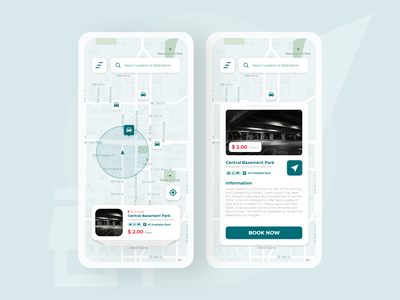 Parking App Design navigation vehicle maps mobile ui mobile design parking lot design app ui mobile iphone parking app parking