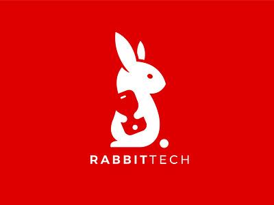 RabbitTech Logo Design ui motion graphics animation icon design icon brand design brand identity logo art minimal graphic design 3d illustration branding logo