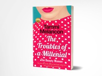 The troubles of a millenial book cover design