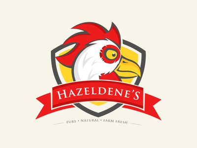 Logo logo brand identity flat logo chicken