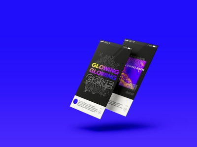 Glowing Gone App - Jo Hawkes Design climate animation app design climatechange climate crisis app vector ui corporate identity graphics graphic design illustration concept design branding typography