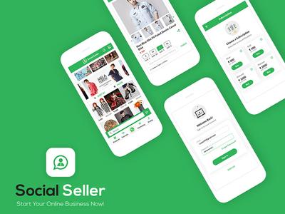 Social Seller B2B Ecommerce App UI