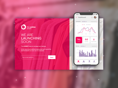Mobile Dashboard Coming Soon Page landing page web design pink coming soon dashboard design dashboard mobile