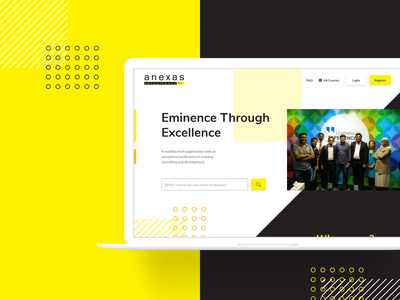 Landing Page Redesign exploration website redesign yellow landing page