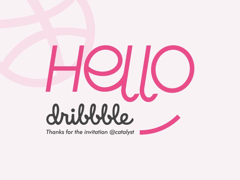 Hello Dribbble! typography flat branding design logo