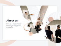 About us - Website graphic