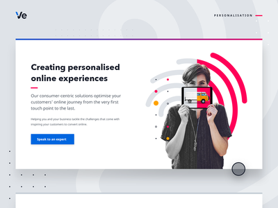 Personalised online experiences web graphic