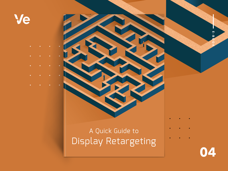 eBook cover - A Quick Guide to Display Retargeting display ads retargeting digital advertising how-to pathway directions guidelines guidebook guide maze labyrinth resource ebook cover illustration magazine cover book cover cover art typography illustration graphic design