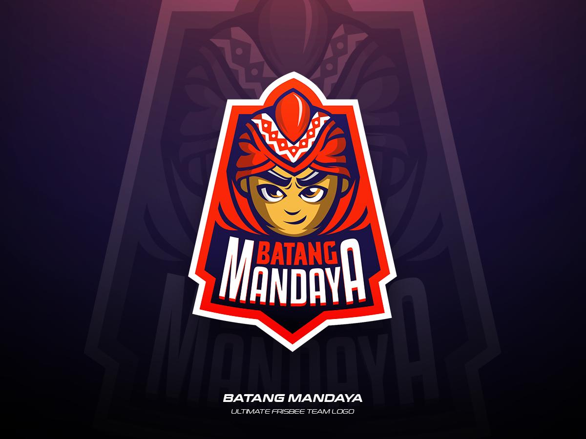 Batang Mandaya vector ultimate team sports illustration logo frisbee design branding