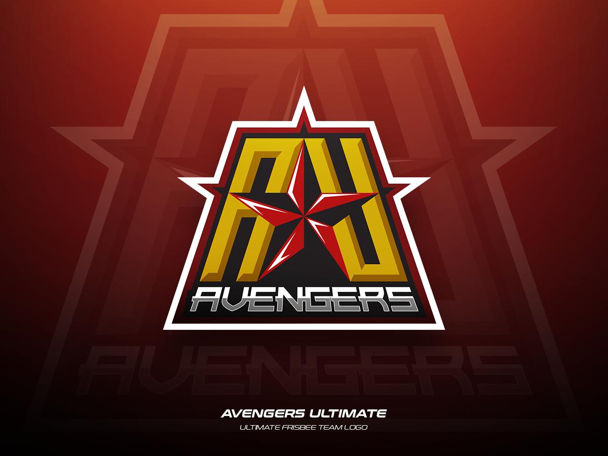 Avengers Ultimate frisbee team ultimate branding sports illustration logo vector design