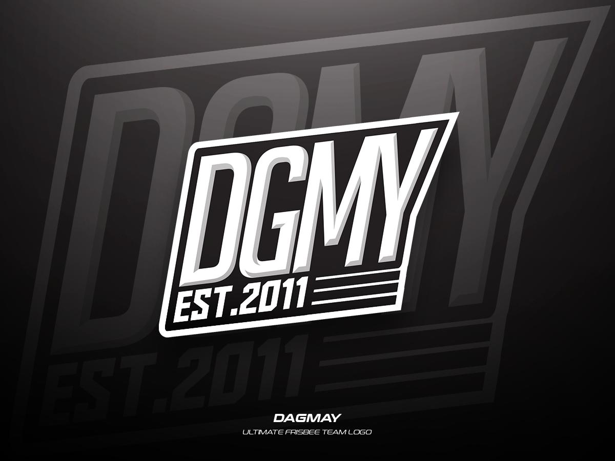 Dagmay team frisbee ultimate sports illustration branding vector logo design
