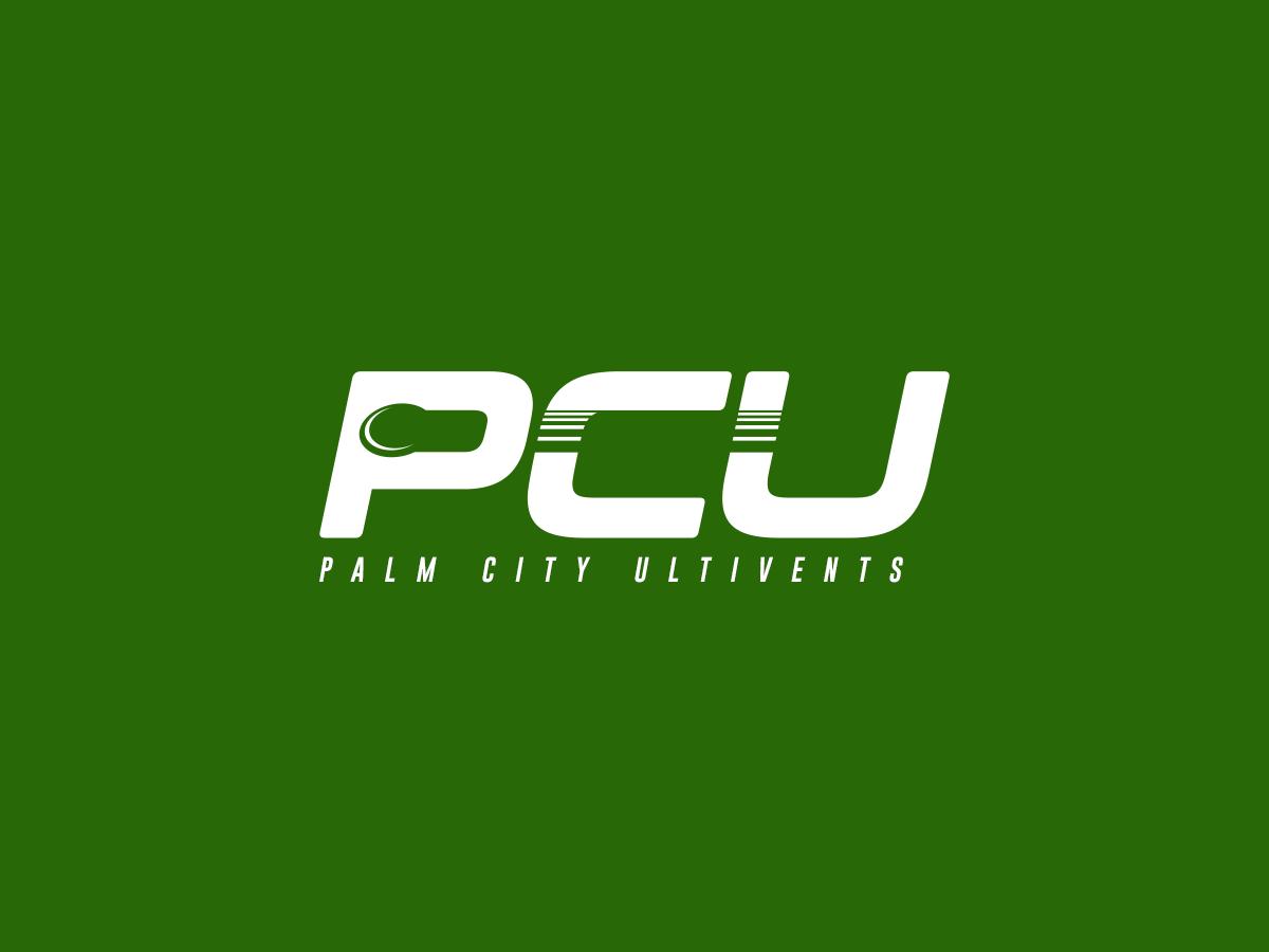 PCU frisbee ultimate sports branding illustration vector logo design