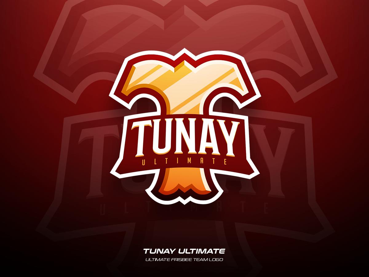 Tunay Ultimate team frisbee ultimate sports illustration branding vector logo design