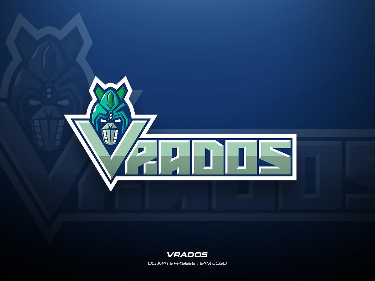 Vrados team frisbee ultimate sports illustration branding vector logo design