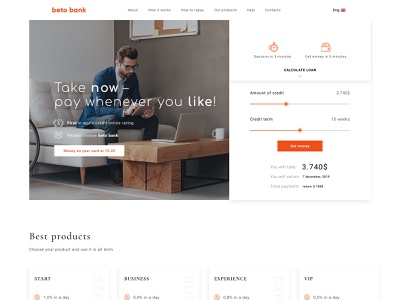 Beto Bank banking website banking bank finance website minimal web design ux ui