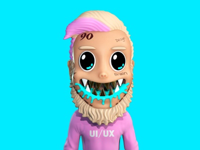 Dmitrii Brain fun webdesign avatars art design picture graphic illustraion avatar 3d