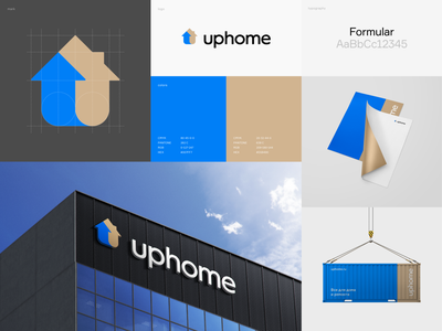 Uphome identity minimal logotype identity logodesign logo branding design