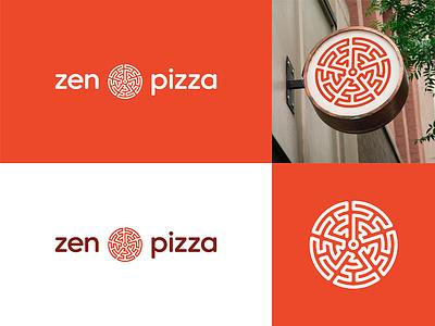 Zen pizza branding logodesign logotype vector minimal logo design branding