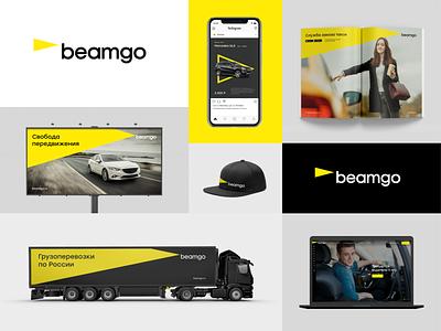 Beamgo branding concept logodesign brand design transportation logistics visual identity identity logo design branding