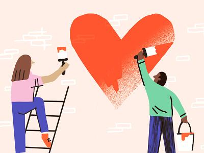 Spread the love branding design illustration illustrator
