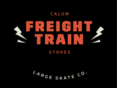 Calum 'Freight Train' Stokes locup illustration logo