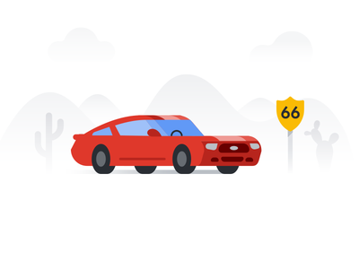 Route 66 — Retro muscle design car google muscle retro