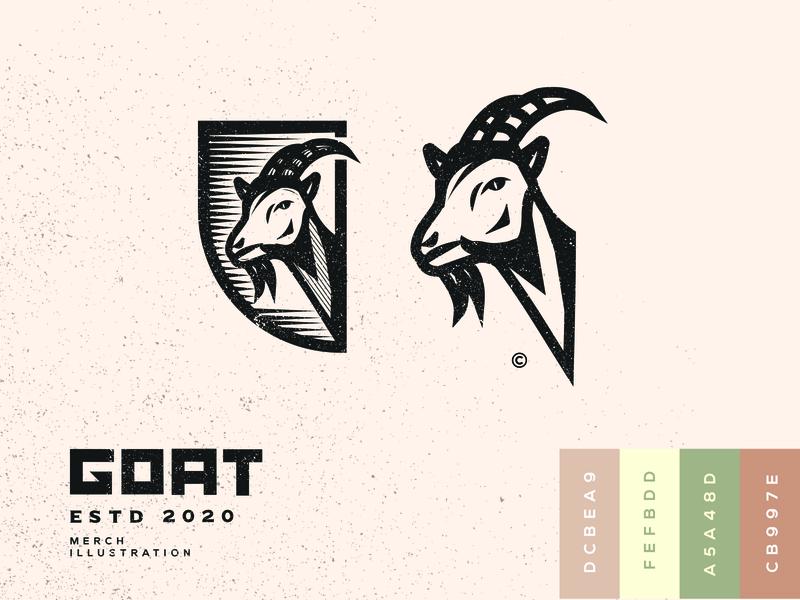 Goat illustration / logo 2d designs adobe illustrator adobe illustrations illustration design illustration art illustrator goat goat logo logo design illustration logo branding logos logodesign identity designer design art design