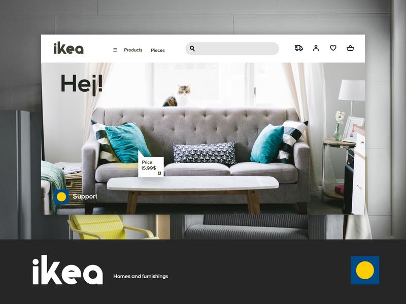 Ikea UI design + logo concept rebranding website design app web design webdesign designs ui design uidesign ui  ux uiux branding logodesign app logo typography ux ui designer design art design