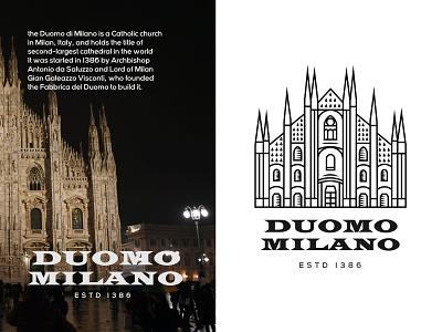Duomo Milan Logo / illustration designer logo identity designer brand identity illustration art artist artwork art illustrations logotype designs illustrator logo design illustration identity logo logos logodesign designer design art design
