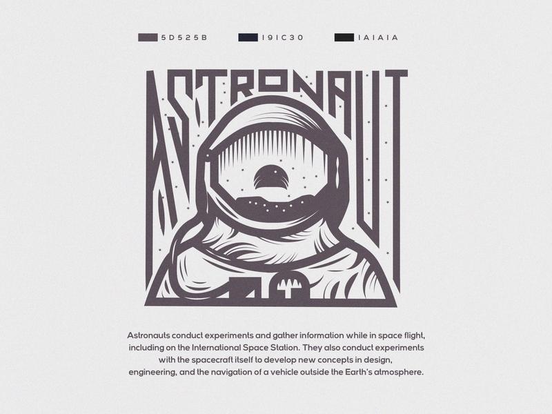 Astronaut : Seeing the earth . earth moon adobe adobe illustrator 2d art artist artwork illustration art illustrator illustration logo design branding identity logo logos designer logodesign design art design