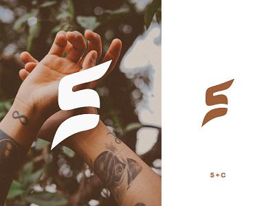 5C Sport Logo modernism logos logodesign logo illustrator illustration identity flat design clean brand