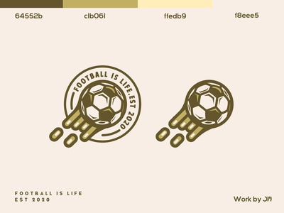 Football is life Logo (Badge)