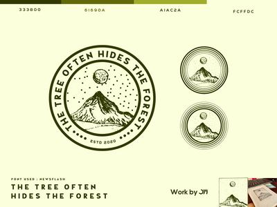The mountain illustration logo