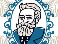 Jules Verne Bust Illustration