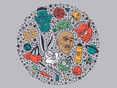 Welcome to the Jam illustration stars wallpaper diamond jam jordan michael space looney tunes
