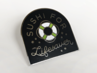 Sushi for Lifesaver Pin
