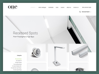 ONE Light - Products page design / layout