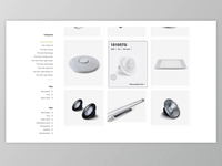 ONE Light - Products page design / layout demo