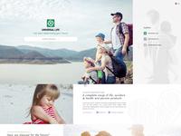 Design & Animated menu concept for a local Insurance company