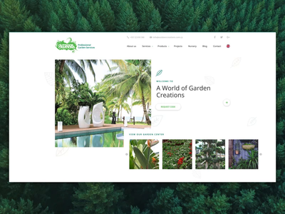 Outdoor Creations website - Design/layout and concept video